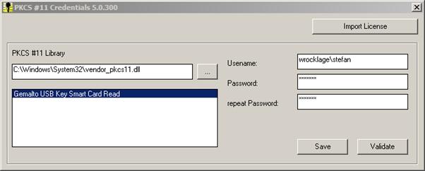 PKCS #11 Windows Logon